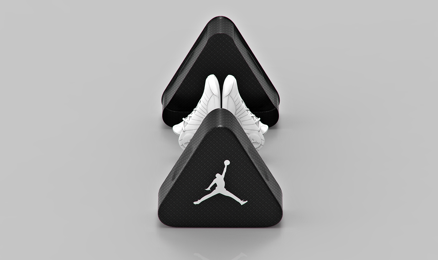 Tomislav Zvonaric designed this awesome new concept of triangular aluminum  packaging for shoes and it can also stack up pretty neat. c704b1a21d