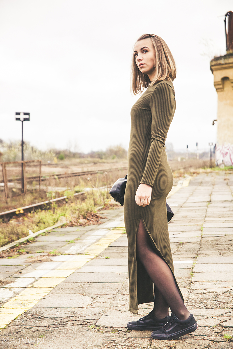 Army Green Dress for Fall