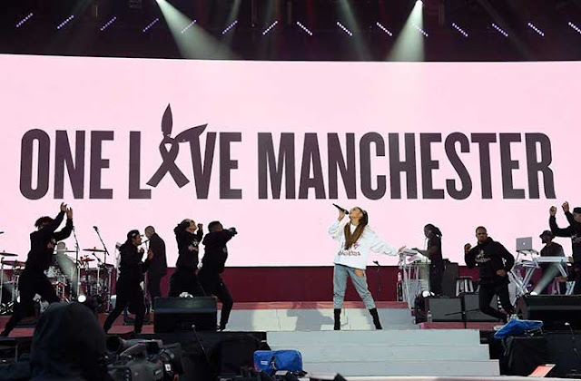 SEE IT: It's all about love at Manchester benefit concert with Ariana Grande, Miley Cyrus, Justin Bieber and more