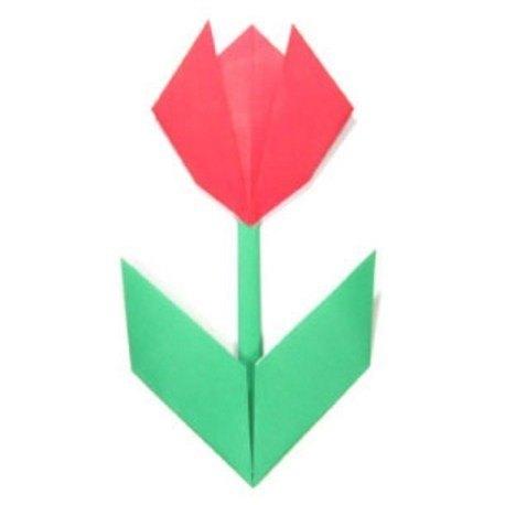 cara membuat bunga dari kertas origami