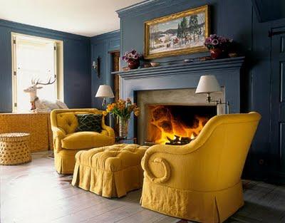Yellow Living Room Curtain Ideas
