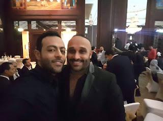 """بالصور.. خالد تاج الدين وتامر عاشور ومصطفي محفوظ في زفاف """"البيكباشي"""" و""""سلمي"""""""