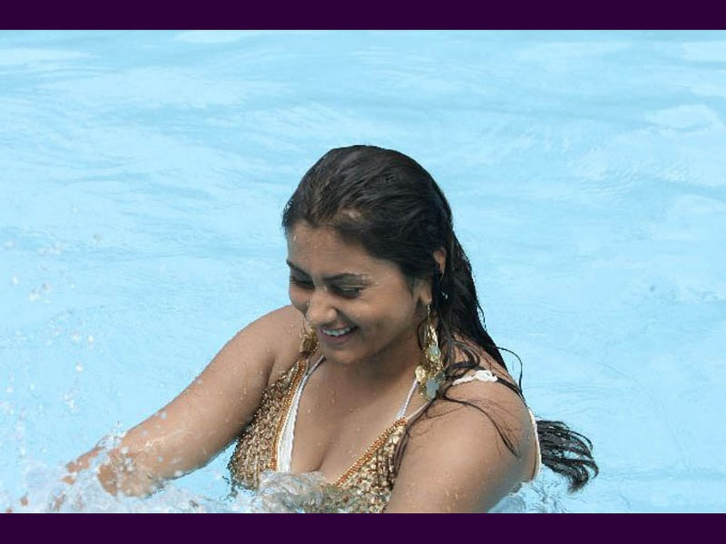 Hot Photos South Indian Actress In Wetinwater-8345