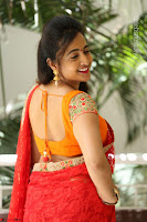 Lasya Cute Beauty in Saree Backless Choli at her Interview ~  Exclusive 059.JPG