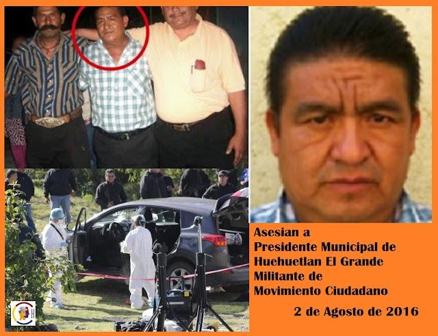 Asesinan al presidente municipal de Movimiento Ciudadano