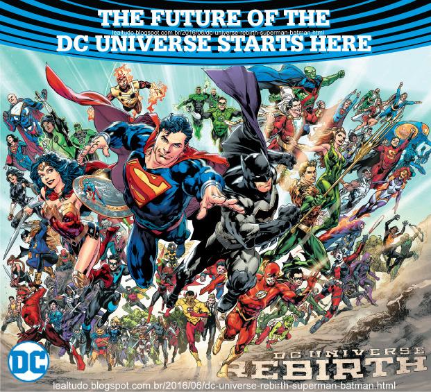 DC UNIVERSE REBIRTH - Superman Batman Wonder Woman Flash Shazam Green Arrow Lantern Titan Antman - SMALL