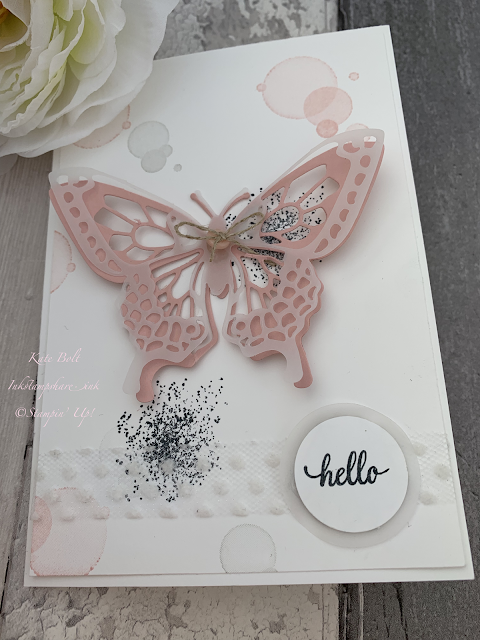 Delicate butterfly card using the Beauty Abounds Bundle from Stampin' Up!