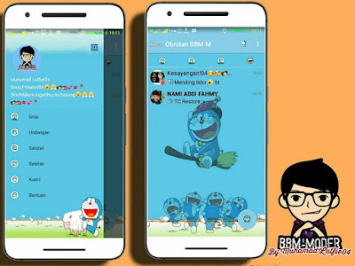BBM Mod Doraemon Versi 3.0.0.18 Apk By Muhamad Lutfie