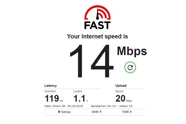 Fast - Πιο απλά δεν γίνεται να μετρήσεις την ταχύτητα του internet σου
