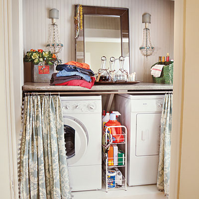 Ideas for Hiding the Washer and Dryer | Driven by Decor on kitchen cabinets for washer dryer, door to hide washer and dryer, pinterest decorating to hide washer dryer, curtains to cover washer and dryer, curtains to hide washer and dryer, bathroom layout with washer dryer,