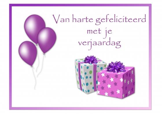 Gefeliciteerd Met Je Verjaardag Van Harte Gefeliciteerd