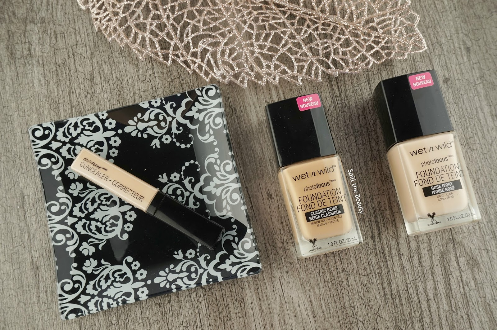 wet n wild photofocus foundation rose ivory classic beige photofocus concealer light ivory review swatches before and after
