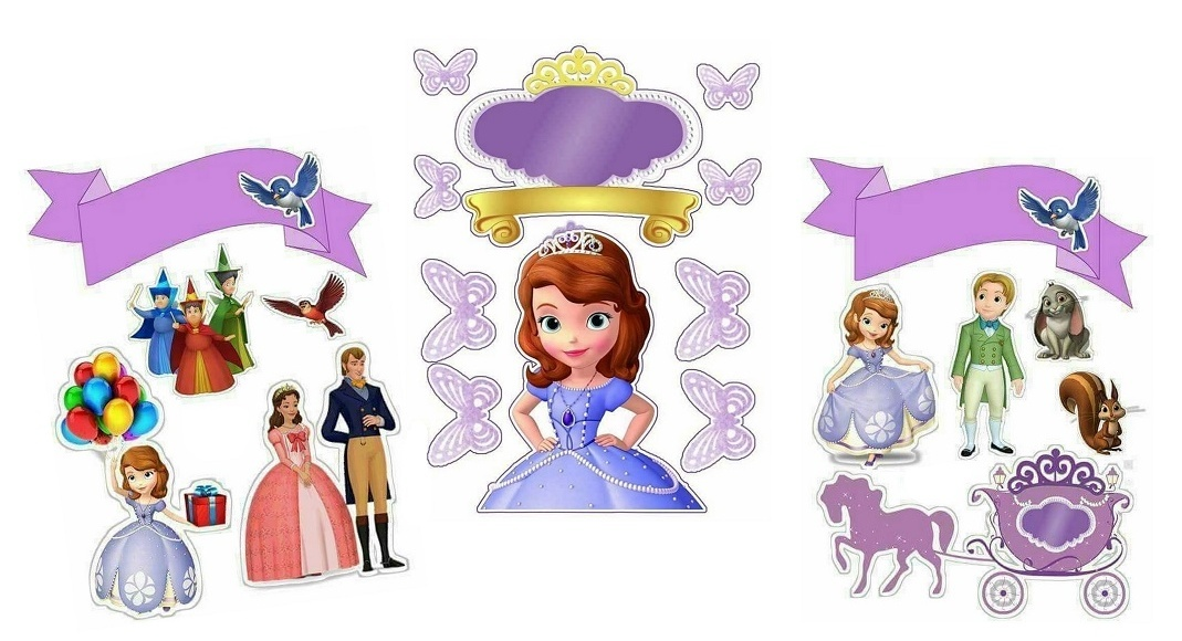 Sofia The First Birthday Free Printable Cake Toppers Oh My Fiesta In English