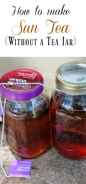 Love sun tea? You can make it in a few hours -- even without a sun tea jar!