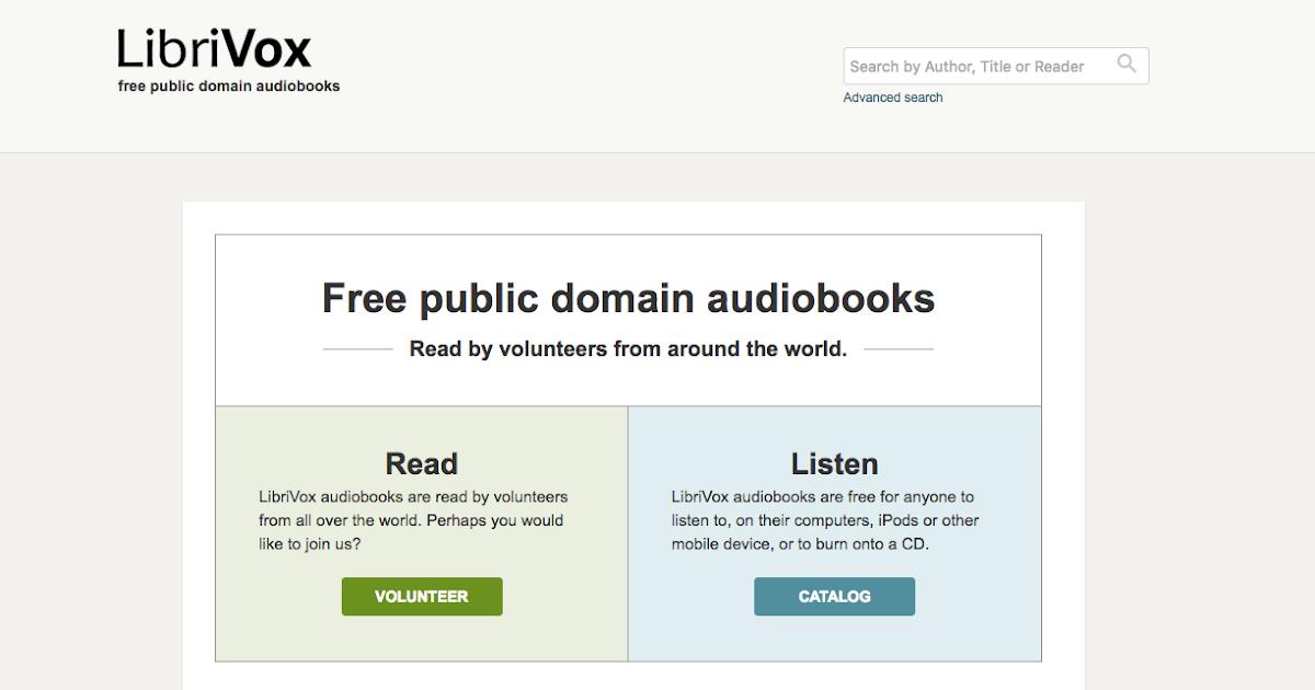 真人為你朗讀全球經典著作 LibriVox 免費有聲書下載