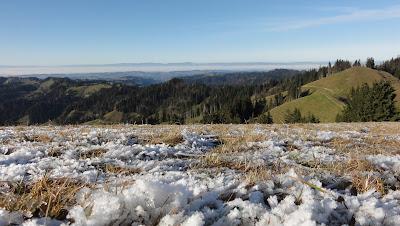 Oberhohmatt mit Nebelmeer am Jura