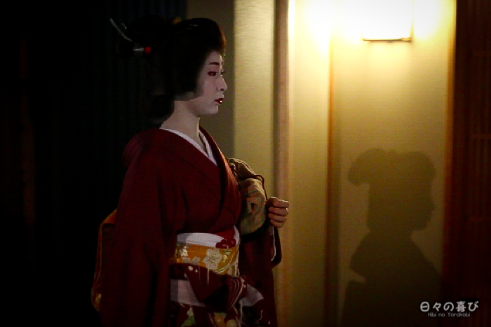 geiko de profil, Gion, Kyoto