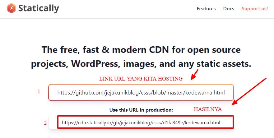 Cara Paling Baru Hosting File JS, CSS dan HTML di Github