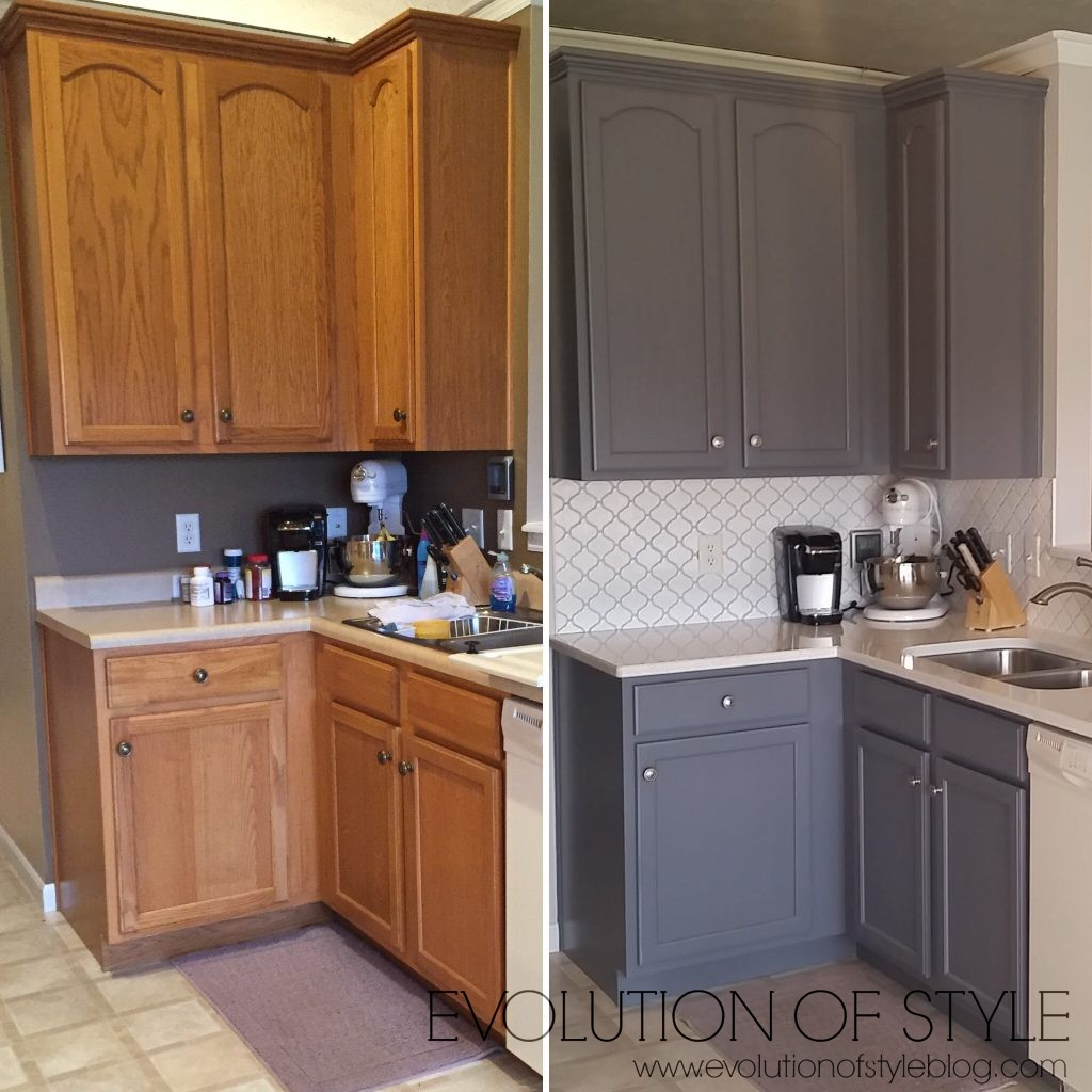 Cost Of Painting Kitchen Cabinets White: Awesome Before And After Projects (and Link Up Your Own