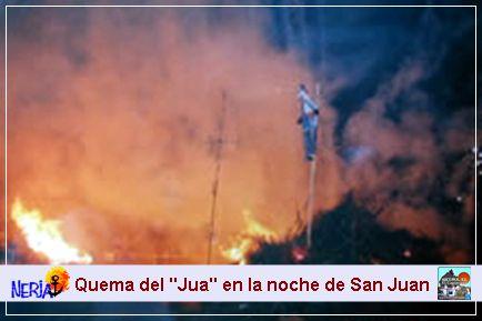 El jua simboliza los males y debe de arder para hacerlos desaparecer