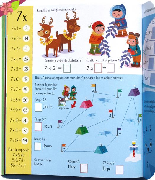 Cahier d'activité : Les multiplications - Usborne