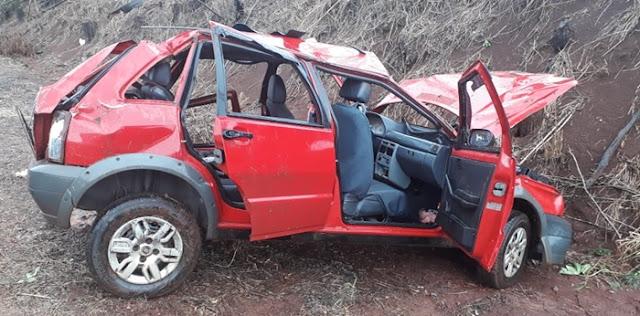 Família de Luiziana se envolve em acidente na BR-487