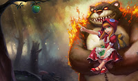 Chinese Red Riding Annie Skin Wallpaper