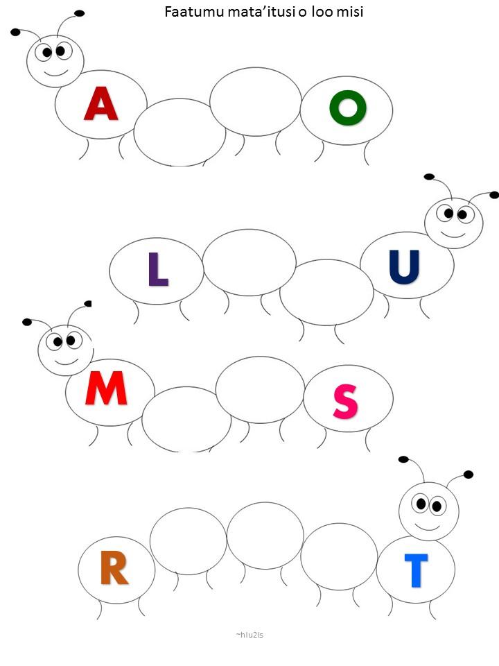 Samoan For Kids Samoan Alphabet Free Printable