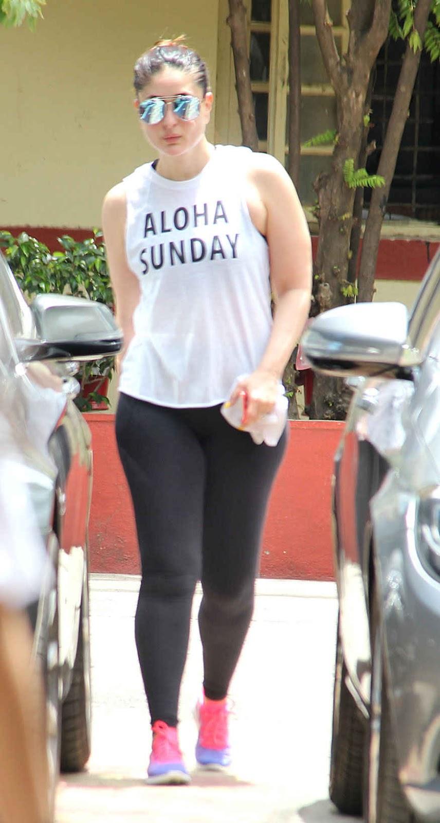 Sexy Beauty Kareena Kapoor At A Gym In Bandra, Mumbai  Webenty-7074