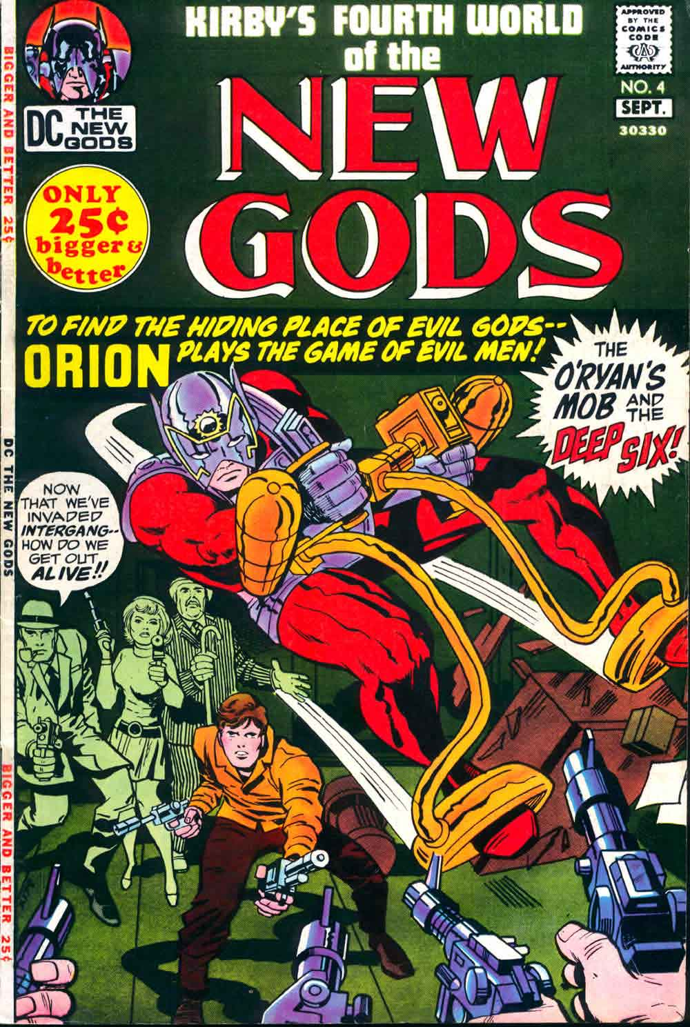 New Gods 4  Jack Kirby art cover  reprint  Pencil Ink