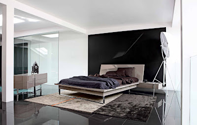 black marble floor design for bedroom