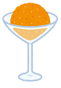 シャーベットのイラスト(オレンジ)