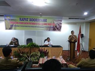 Kadis TPHP Provinsi Jambi Buka Rakor Pengelolaan Irigasi Untuk Pertanian Bagi Provinsi Jambi.