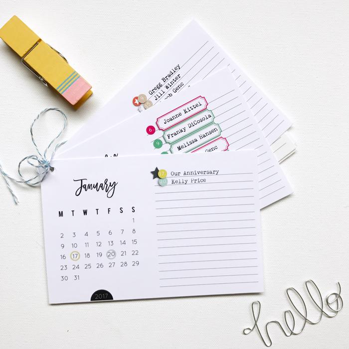Amber LaBau Calendar Cards - Holly w/ www.paintedladiesjournal.com