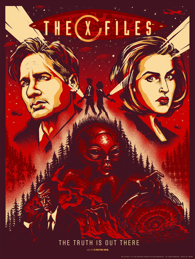 INSIDE THE ROCK POSTER...X Files Poster