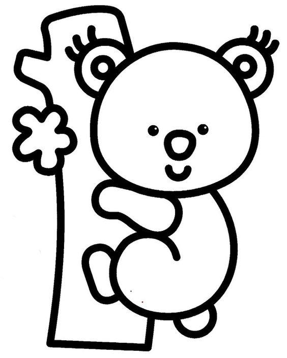 Desenhos de animais fofos para colorir pintar imprimir espa o educar desenhos pintar colorir - Dessin pour bebe 2 ans ...