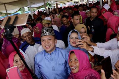 10 Ribu Jamaah Padati Tabligh Akbar Bersama Ridho Ficardo dan Yustin Ficardo
