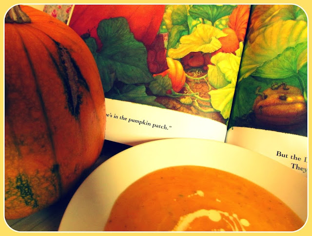 Pumpkin soup inspired by the children's book