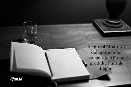Mbah Ali : Inspirasi Kyai Baca, Tulis, Diskusi