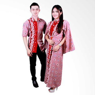 Model baju batik couple dengan motif songket