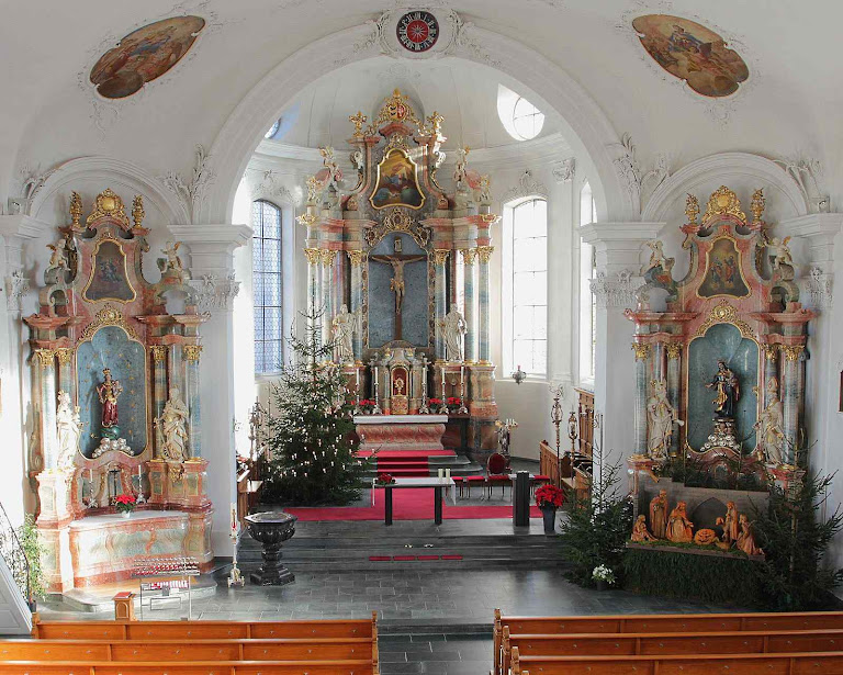 Ettiswil: a igreja paroquial onde foi roubada a Hóstia.