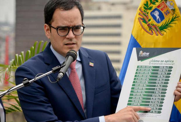 Calixto Ortega: Billetes de 100 y 500 no coexistirán con el nuevo cono