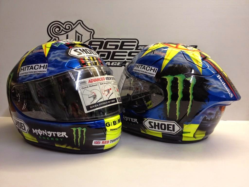 racing helmets garage shoei x spirit ii j mcguinness macau 2014 by rage designs. Black Bedroom Furniture Sets. Home Design Ideas