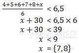 Rata-rata 6 ujian kurang dari median dengan nilai ujian ke-6 7-10