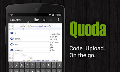 تطبيق Quoda Code Editor مدفوع للاندرويد, تطبيق Quoda اندرويد, تطبيقات أندرويد للمبرمجين ومطوري الويب, تطبيقات لتحرير الاكواد البرمجية على الاندرويد