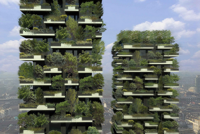 See The Forest That's Growing Within A Concrete Block In Milan
