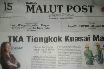 TKA Tiongkok Kuasai Maluku Utara