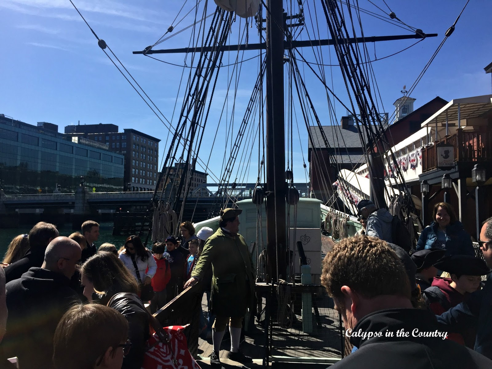 Boston Tea Party Ship - the kids loved throwing the tea overboard!
