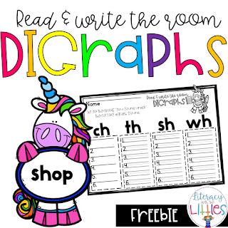 https://www.teacherspayteachers.com/Product/Digraphs-Read-and-Write-the-Room-Freebie-3692174