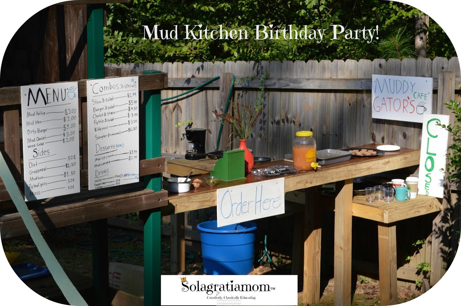 Mud Kitchen Birthday Party